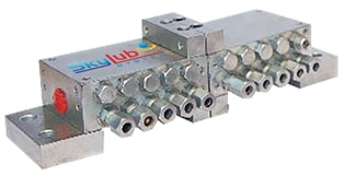 Pregressive Block with indicator Pin Suitable for Oil & Grease